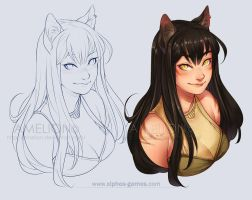 . 152 - Cat girl . by Amelion