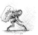 Emo fighter by OzzieScribbler