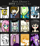 2015 Summary of Art by Minty-Illusion