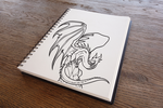 Infernus The Dragon From Fire Land (Sketchbook) by RobertoJOEL1307