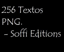Pack 256 textos PNG variados. by SoffiEditions