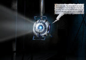 Wheatley in the dark - Portal2 by Tommassey250