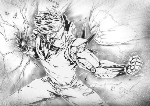 Commission GENOS from One Punch Man by marvelmania