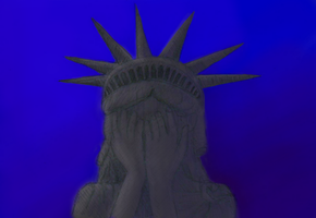 weeping statue of liberty by Sarippus
