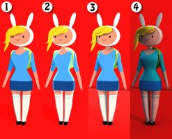 Fionna The Human 3D Render Test by oliletigre