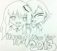 Happy New Year 2013 by sakuradesune