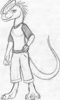 Anthro Dilophosaurus by Dinoboy134