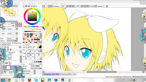 Vocaloid shimeji and...a little WIP? xD by IkiroM