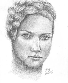 Portrait Sketch - Boceto Retrato by BILLNEW