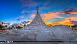 Christmas-Sand-Tree-West-Palm-Beach-Florida by CaptainKimo