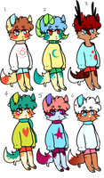 3$ adoptables (paypal) open by godspit