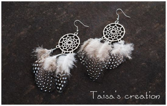 Dreamcatcher Earrings by Taisa-Winged