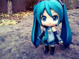 Vocaloid in the Fall by Monstarrgasim