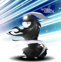 Noir the Absol by super-tuler