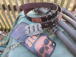 Ruthless Riderz buckle, wallet and belt 1 by RomeTheArtist