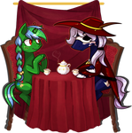 Commission - Some late tea by Keep-Yourself-Alive