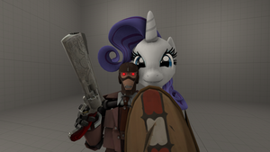 Rarity And Spy Bot by shit1200