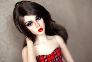Red Lips, Red Dress by kawaiimon