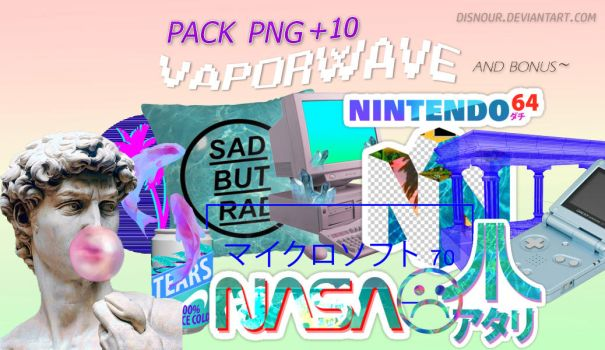 Pack PNG ~ V a p o r w a v e by DisNour
