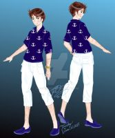 Nautical sporty male fashion by E-Ocasio