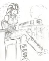 Daniela toma un cafe by orochivan