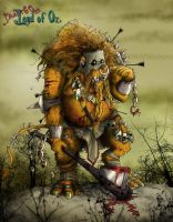 The cowardly lion by clv