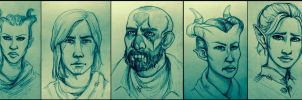 Inquisitors - Pencil sketches by FairyMela