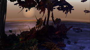 Sunset on the Crystal Isles of Barsoom by audre