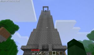 Evil big Minecraftian Tower by X-Playsomegames