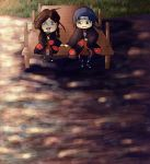 Commission for Brooke0000- Sitting by a lake by penguintejas