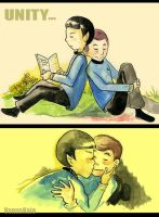 Spock and Dr. McCoy...unity by jeremys-girl