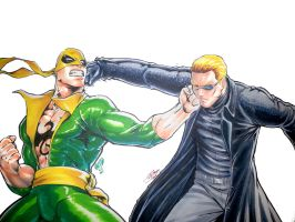Ironfist vs Wesker by FooRay
