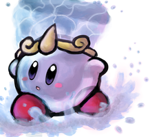 It's....Water Kirby! by The-Cactus-Runner
