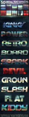 50 Metal Text Effects 5 of 5 by fluctuemos