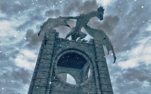 I work part-time as a gargoyle in Winterhold by NorroenDyrd