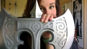 Skyrim Steel Battleaxe WIP: I can see the light! by TheAnti-Lily