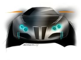 bmw 502 crossover coupe front by p-sketch
