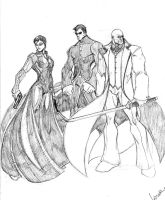 Trinity, Neo and Morpheus by Wolf-Signs