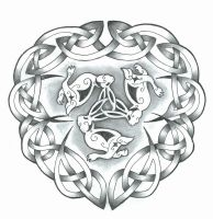 Celtic Bunnies by LeelaB