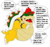 Bowser Ate His Goomba Squad by samus0suit