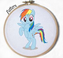 Rainbow Dash Standing Cross stitch pattern by JuliefooDesigns