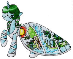 MLP OC Pollywog in Galla dress by poptops by snakehands