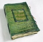The Book of Thoughts green. by gildbookbinders