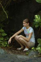 Jungle Girl 03 by ELISE-stock