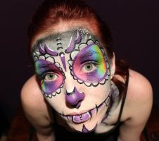Day of the Dead Body Paint 01 by Faeriegem