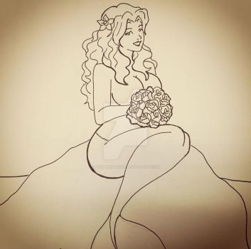 Mermaid and Roses by BunnykinsNoda1982