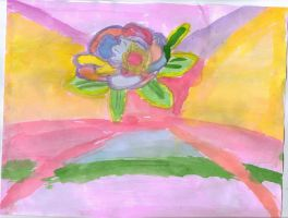 A Colorful WaterColored Rose by animegrl7979