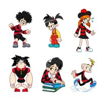 A Medley of Beano Characters by Louistrations