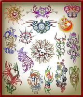 Brushes tattoos for Photoshop by WaleeD-Ps