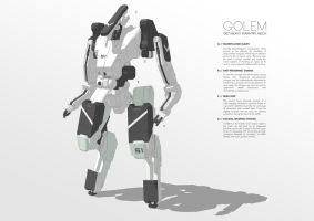 087/Heavy Infantry Mech GOLEM by M-Vitzh
